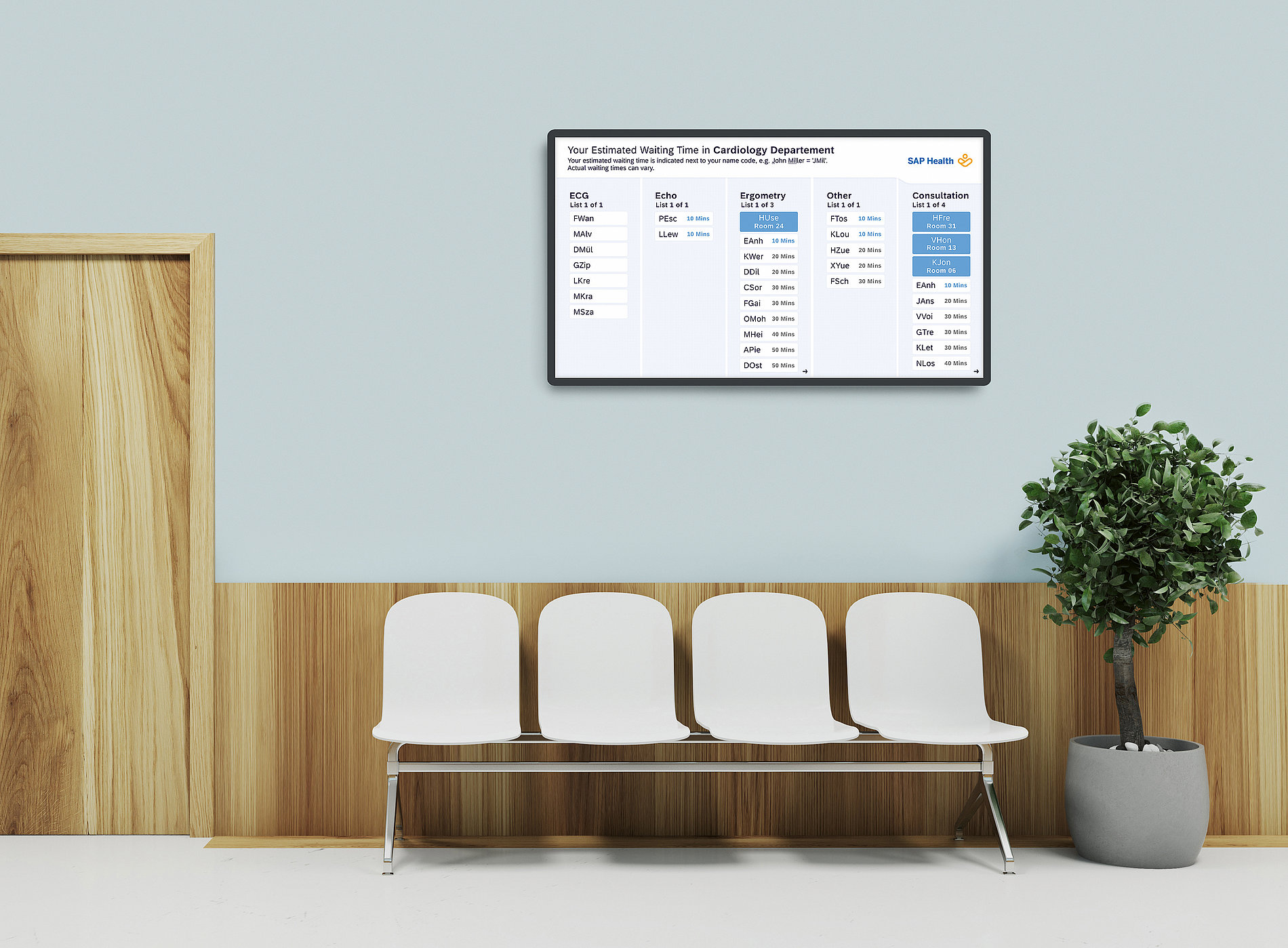 SAP Health for Waiting Time Management | Red Dot Design Award