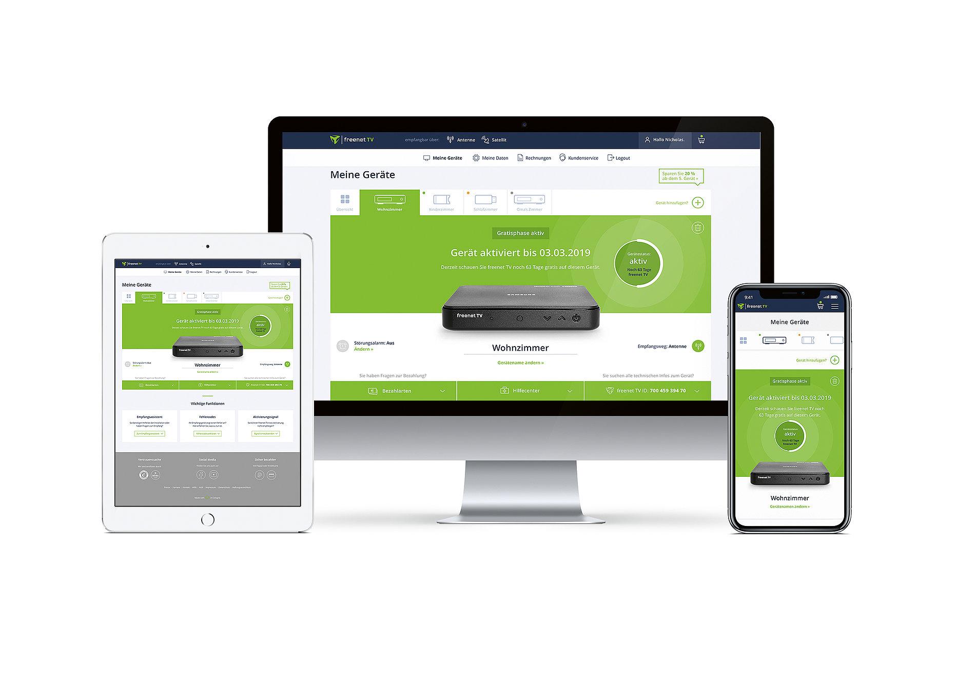 freenet TV Kundenkonto | Red Dot Design Award