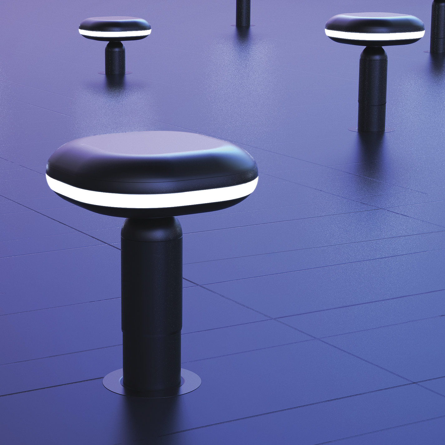Small World - Square chair installation art | Red Dot Design Award