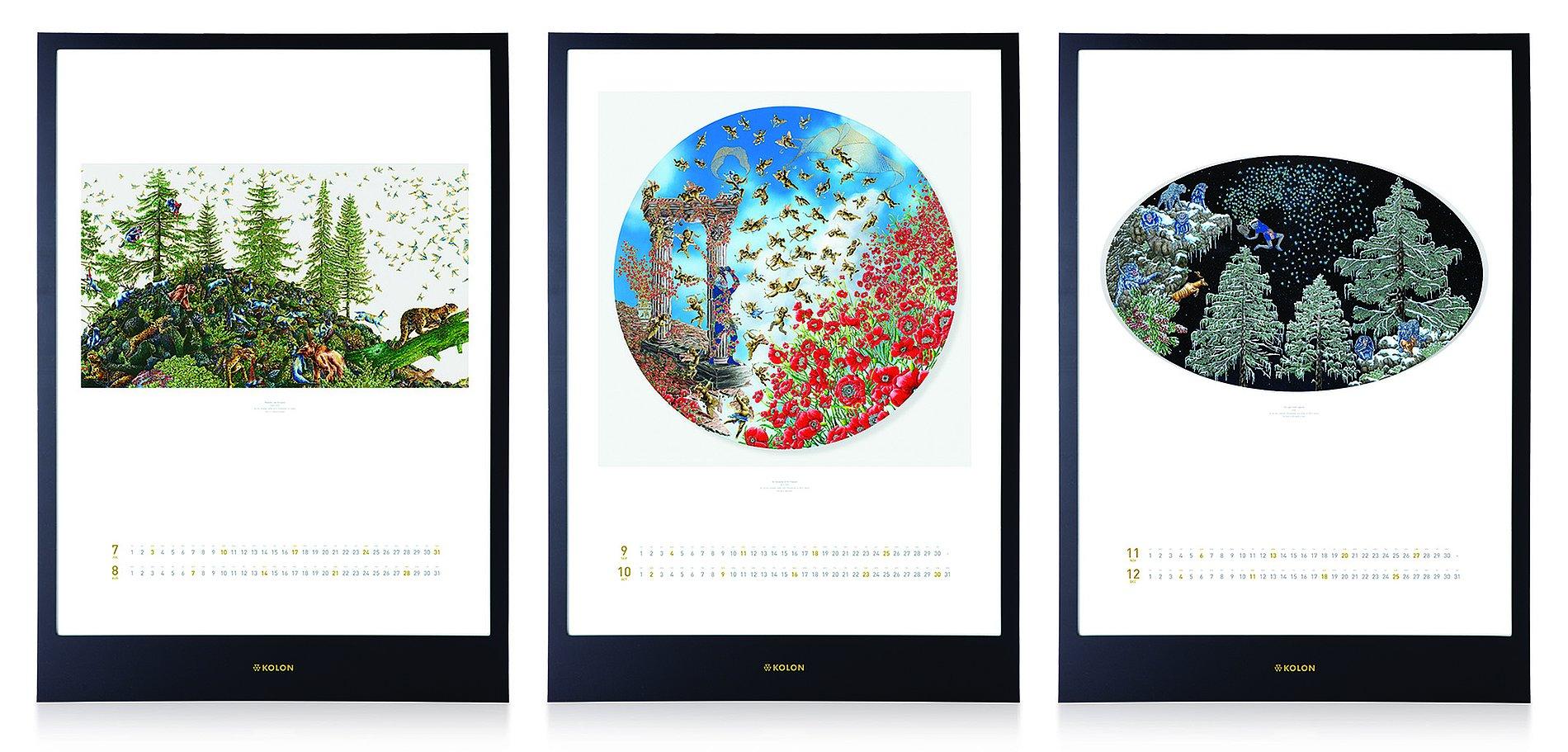 KOLON calendar | Red Dot Design Award