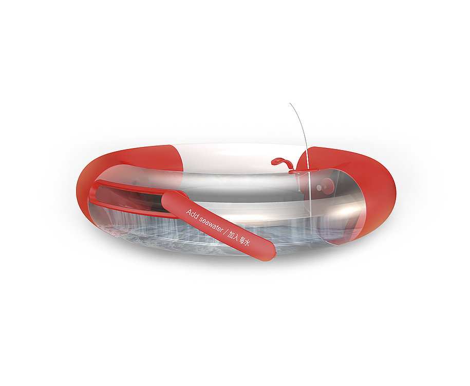 A Life Buoy That Can Distill Seawater. | Red Dot Design Award