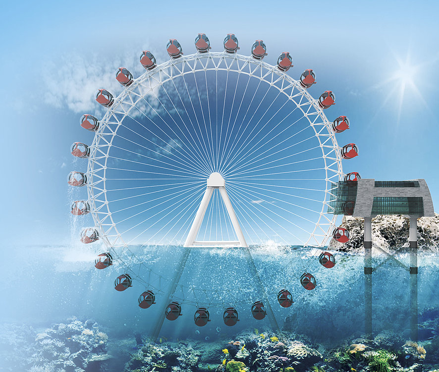 Sea and Sky Ferris Wheel | Red Dot Design Award