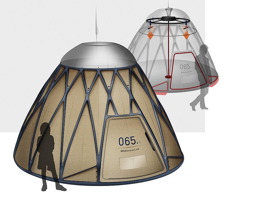 Lattice Disaster Tent | Red Dot Design Award