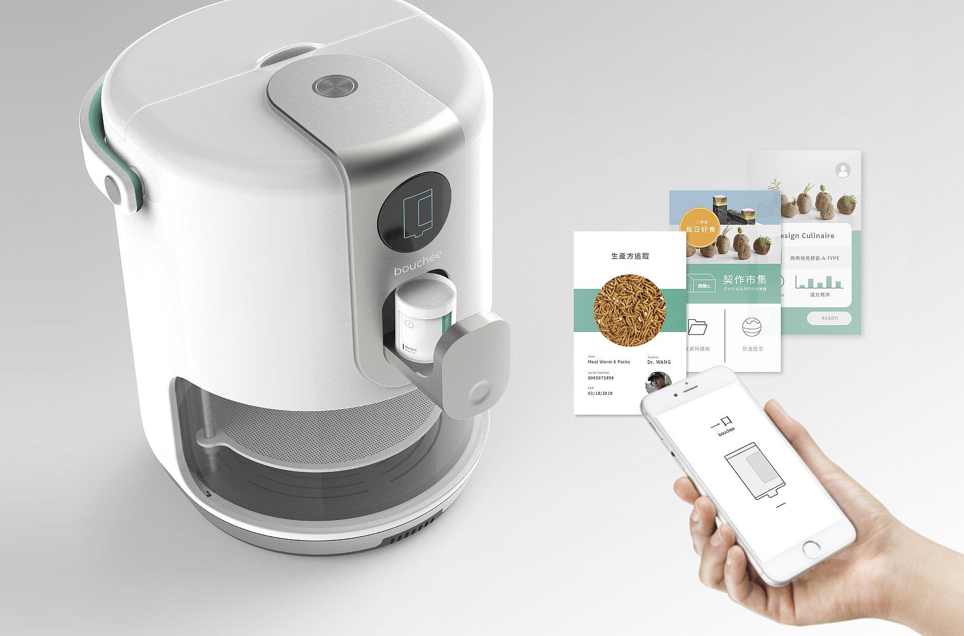 Bouchee Capsule Food Printer | Red Dot Design Award