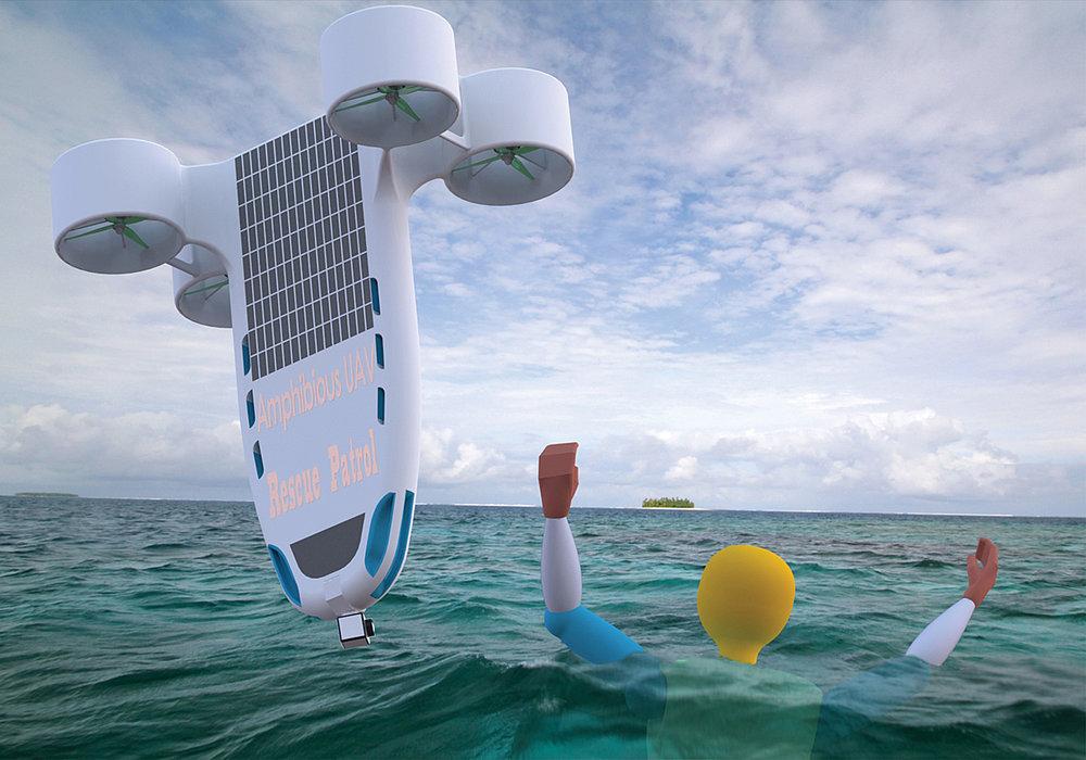 Amphibious Joint-lifeguard UAV | Red Dot Design Award
