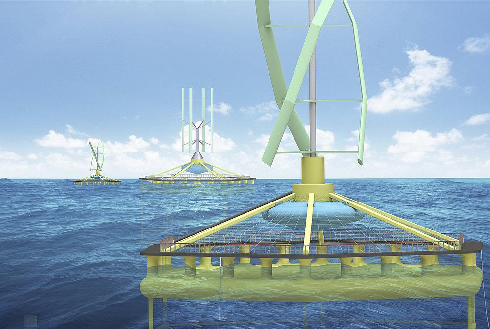 Hybrid Wind Power Generating & Fish Farming System | Red Dot Design Award