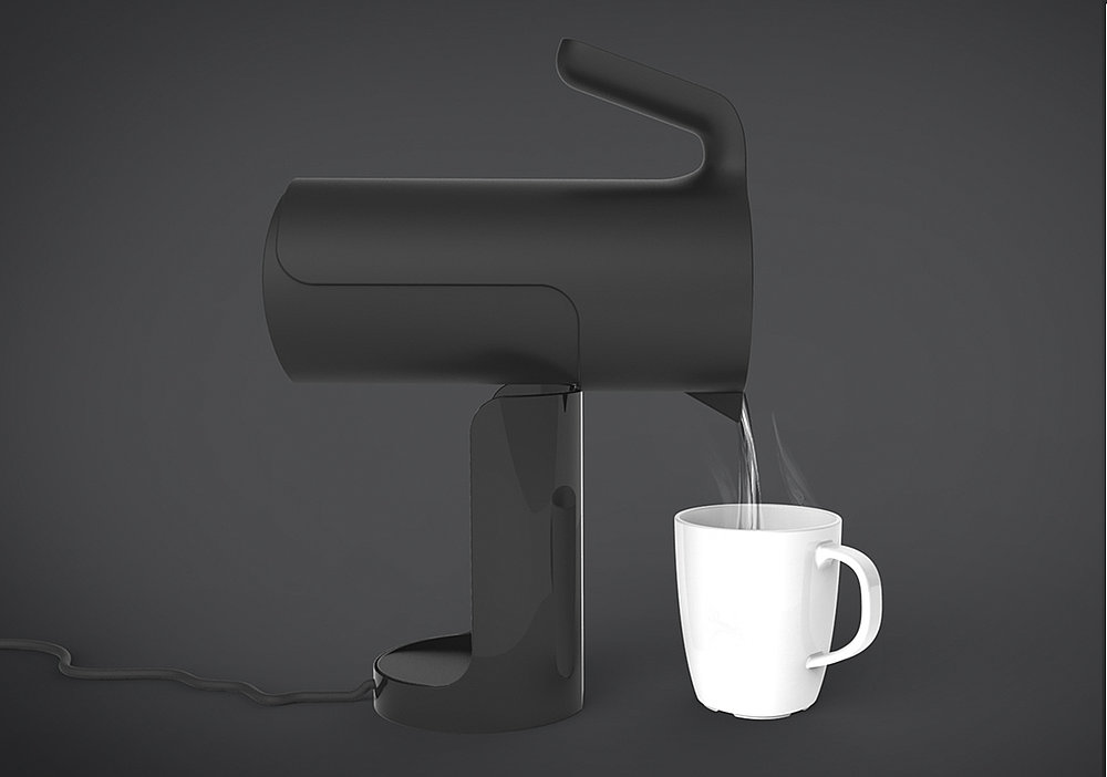 Tilt. An inclusive kettle to aid pouring and filling   Red Dot Design Award