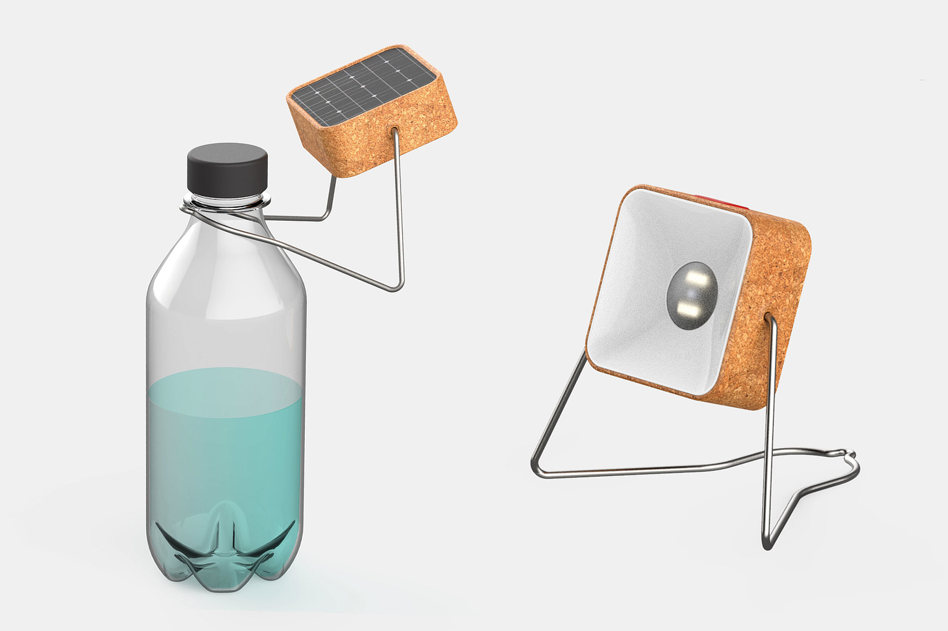 Bottle Pedestal Solar Lamp | Red Dot Design Award