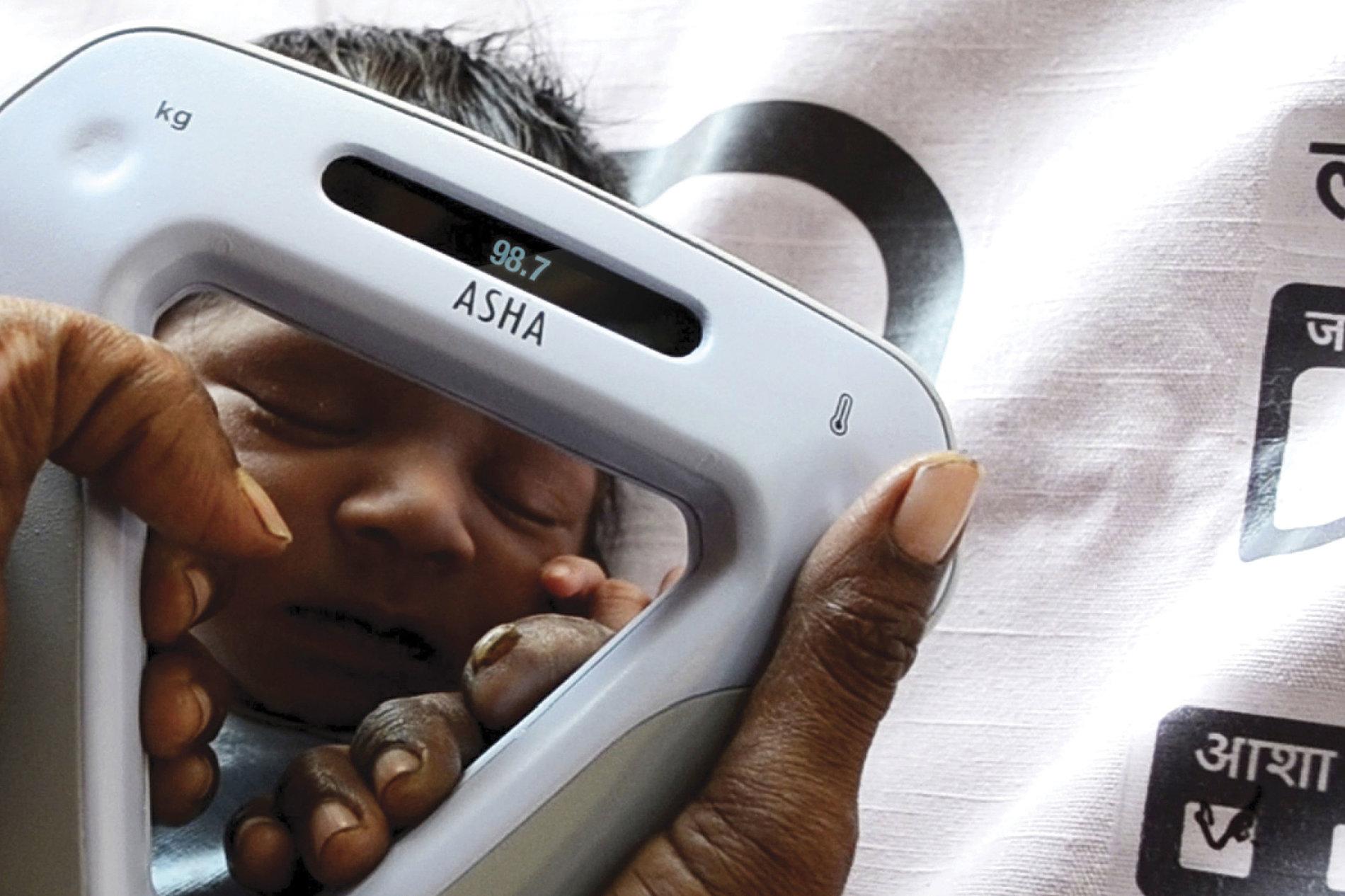 ASHA - Monitoring low birth weight babies in rural India. | Red Dot Design Award