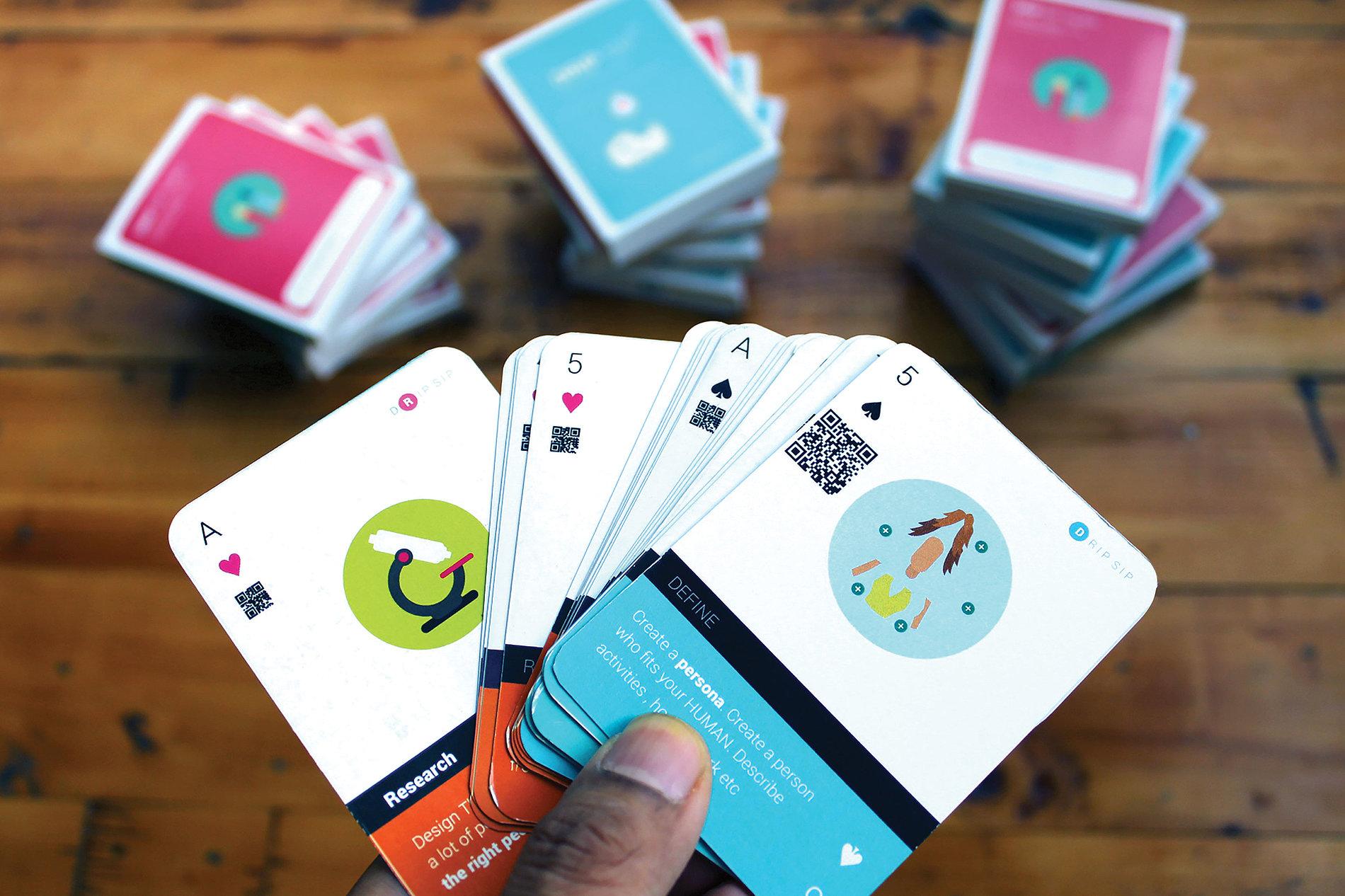 DRIP SIP Design Thinking Card Deck | Red Dot Design Award