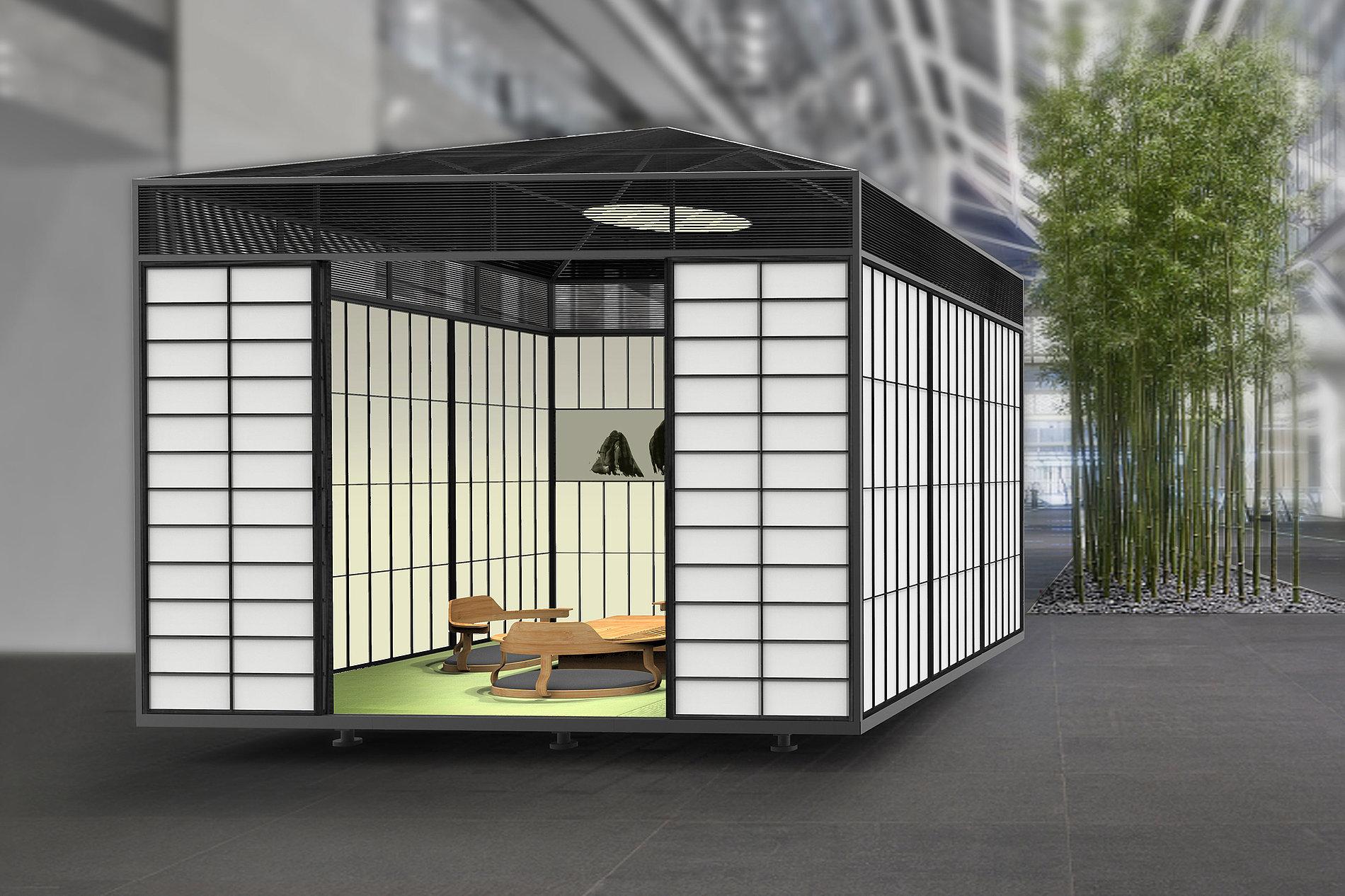 Modular Tea space | Red Dot Design Award