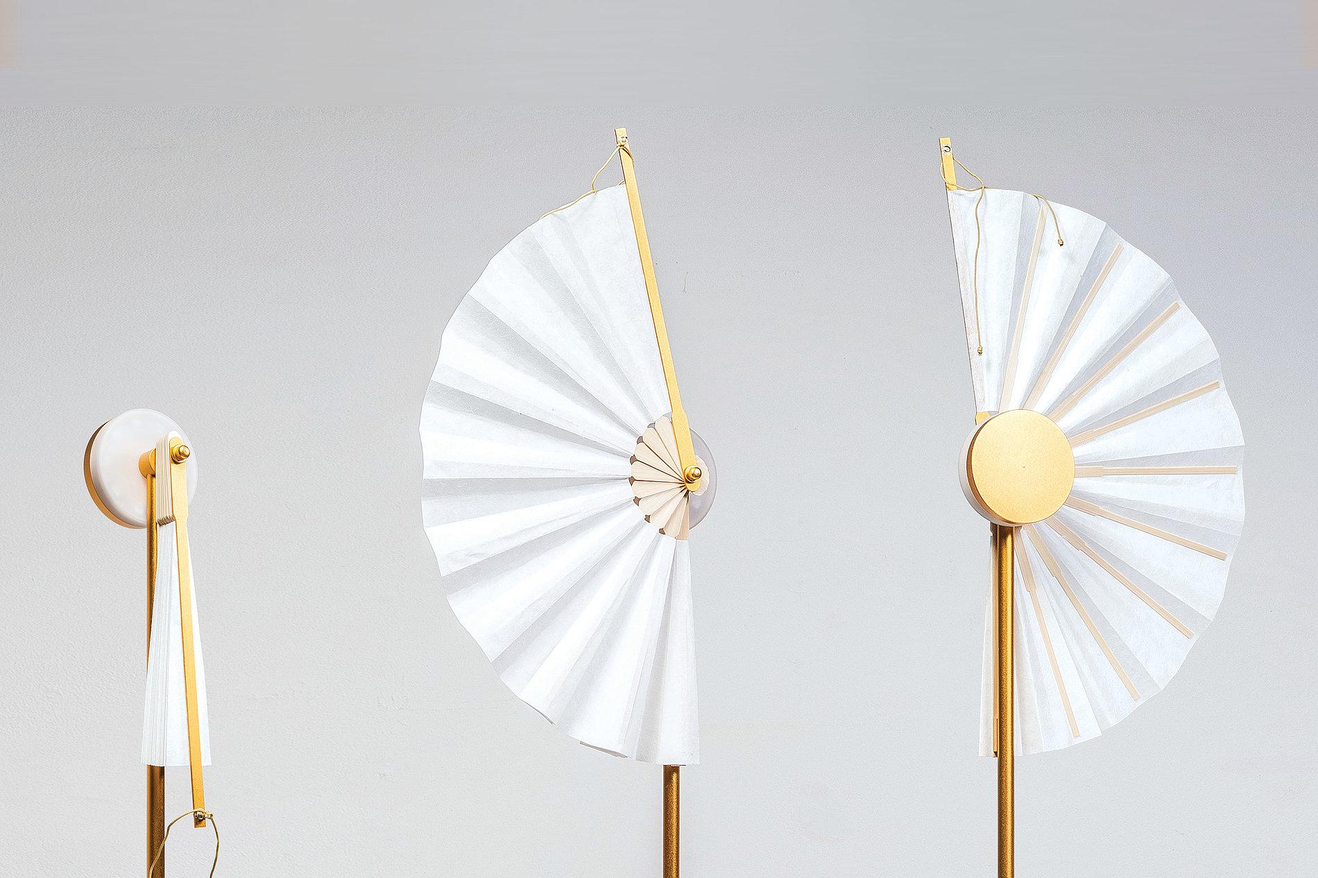 RYUN (circular folding fan lamp)   Red Dot Design Award