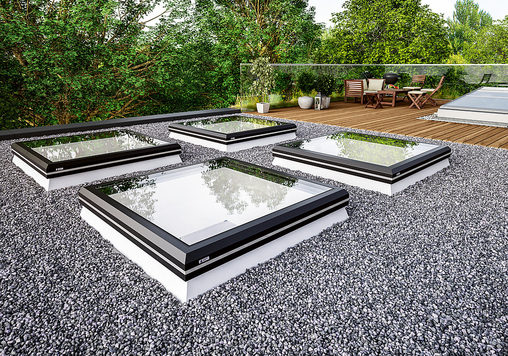 LAMILUX Glass Skylight FE LAMILUX Flachdach Fenster FE | Red Dot Design Award