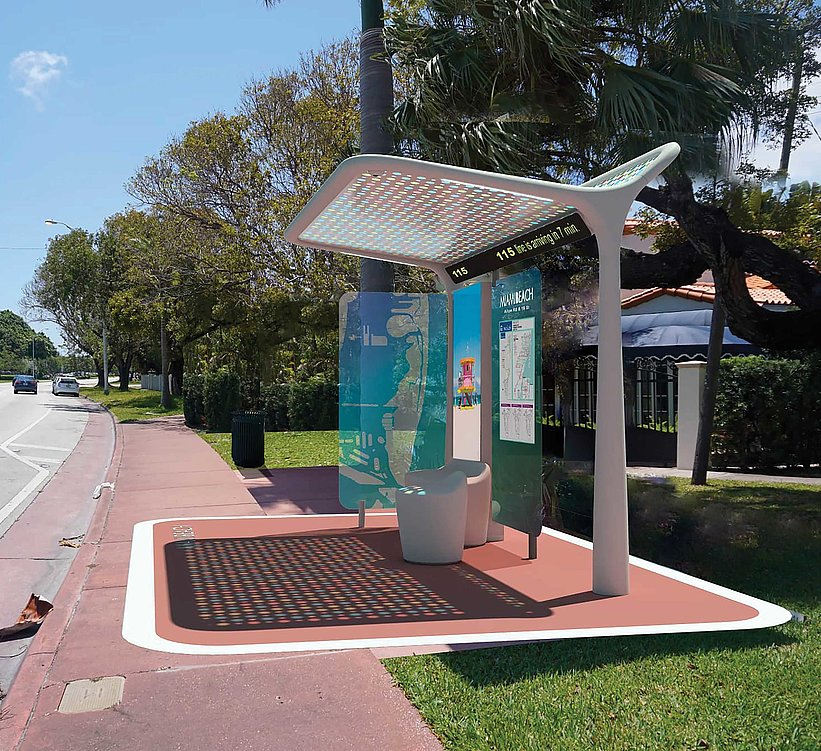 Pininfarina Bus Shelters for The City of Miami Beach | Red Dot Design Award
