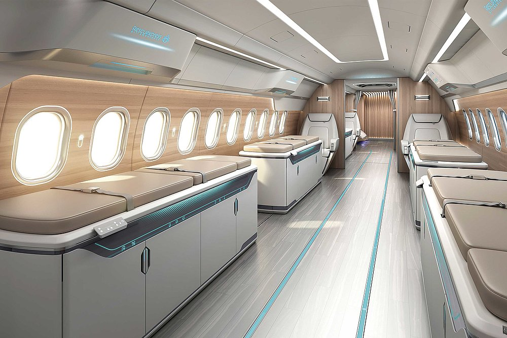 ARJ21 Medical Jet Interior Design | Red Dot Design Award