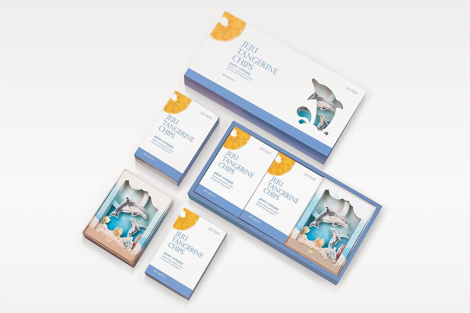 Packaging Platform Using 3D Picture Frame - Jeju Tangerine Chips | Red Dot Design Award