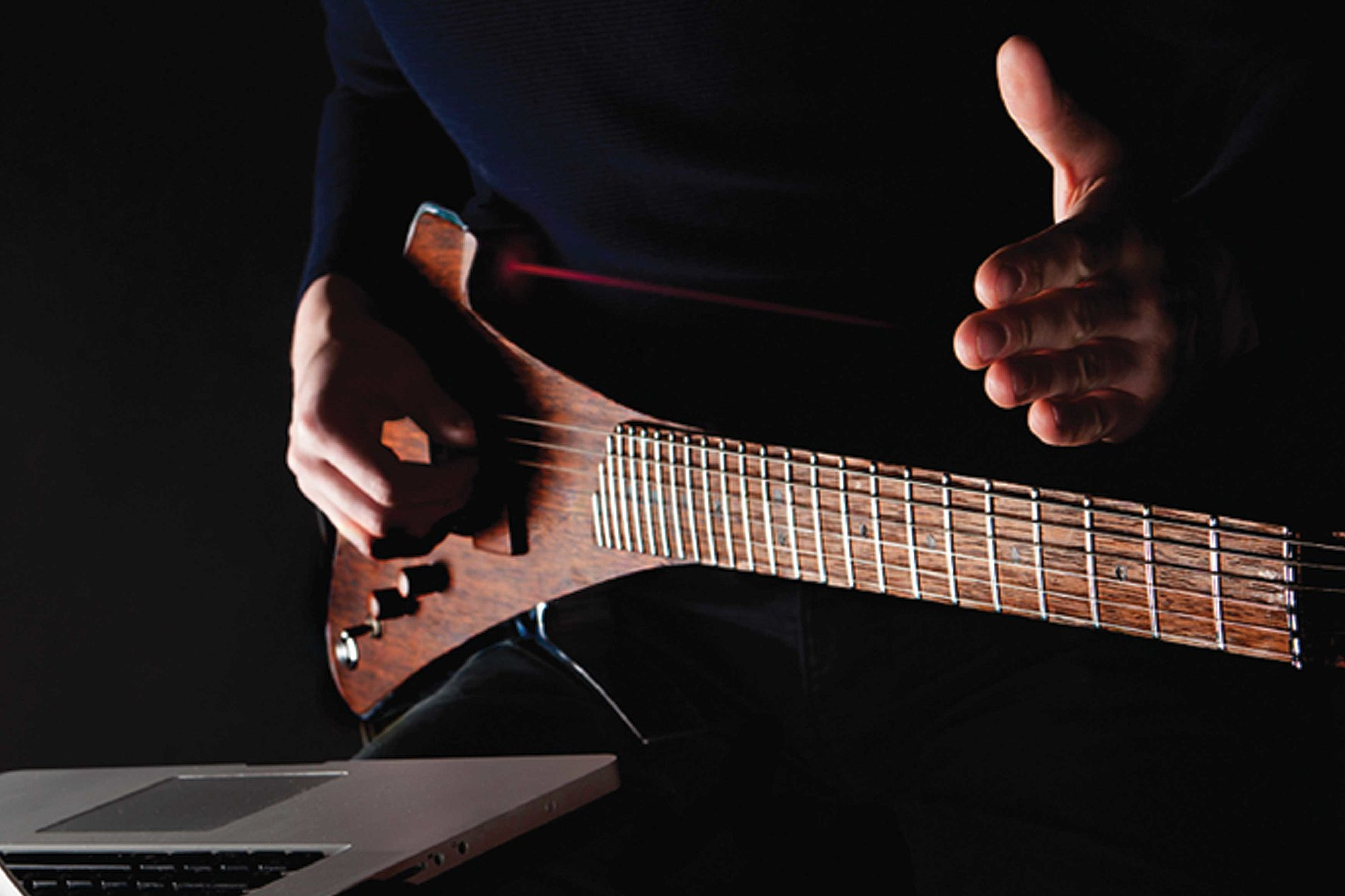 Drop X - Electric Guitar / MIDI Laser Controlled Instrument | Red Dot Design Award