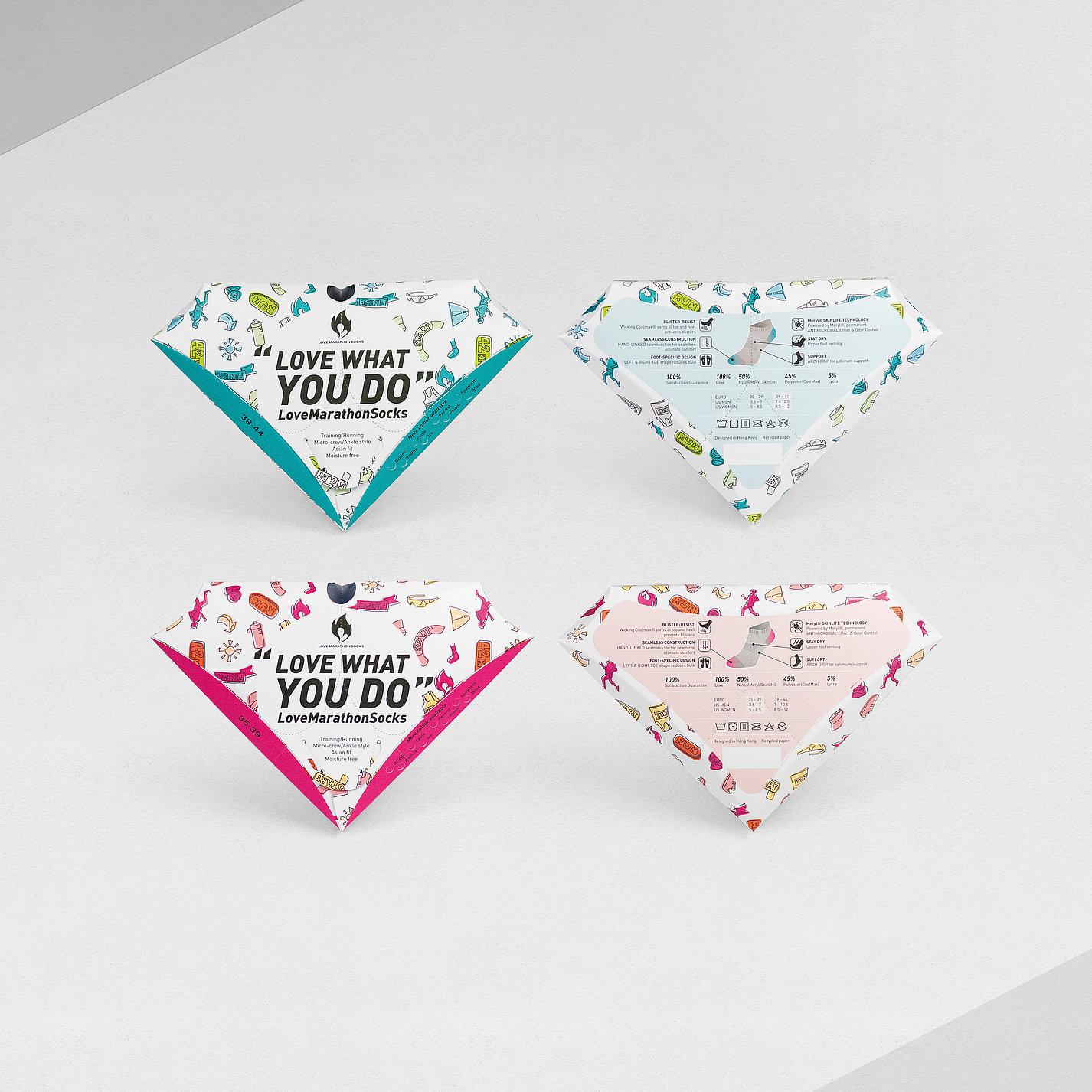 Love Marathon Socks | Red Dot Design Award