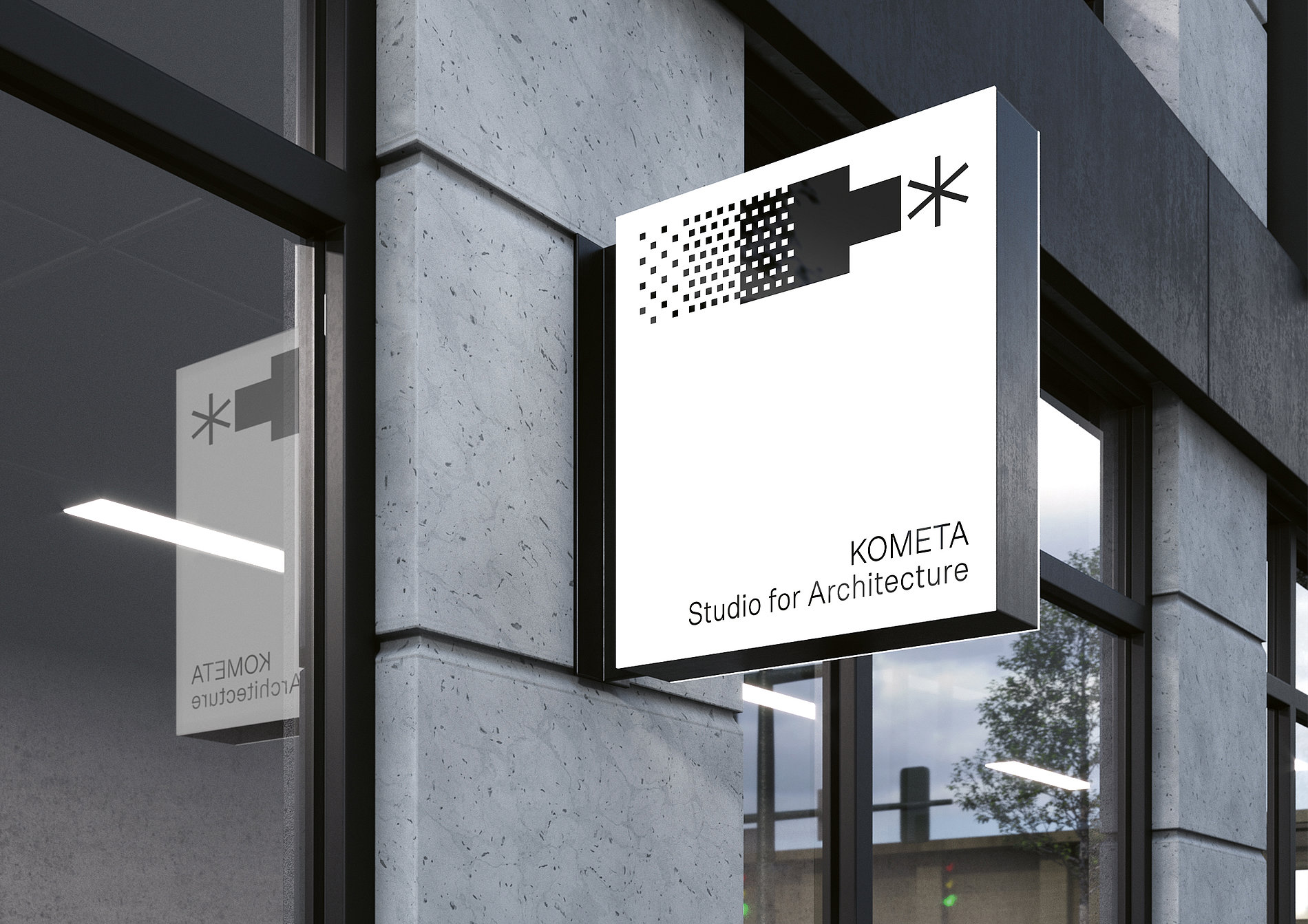 KOMETA Architecture Studio: The Text-Only Identity | Red Dot Design Award