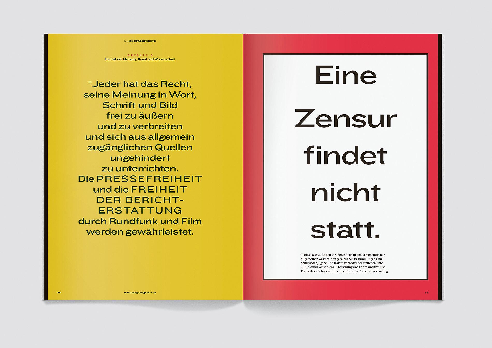 Das Grundgesetz als Magazin | Red Dot Design Award