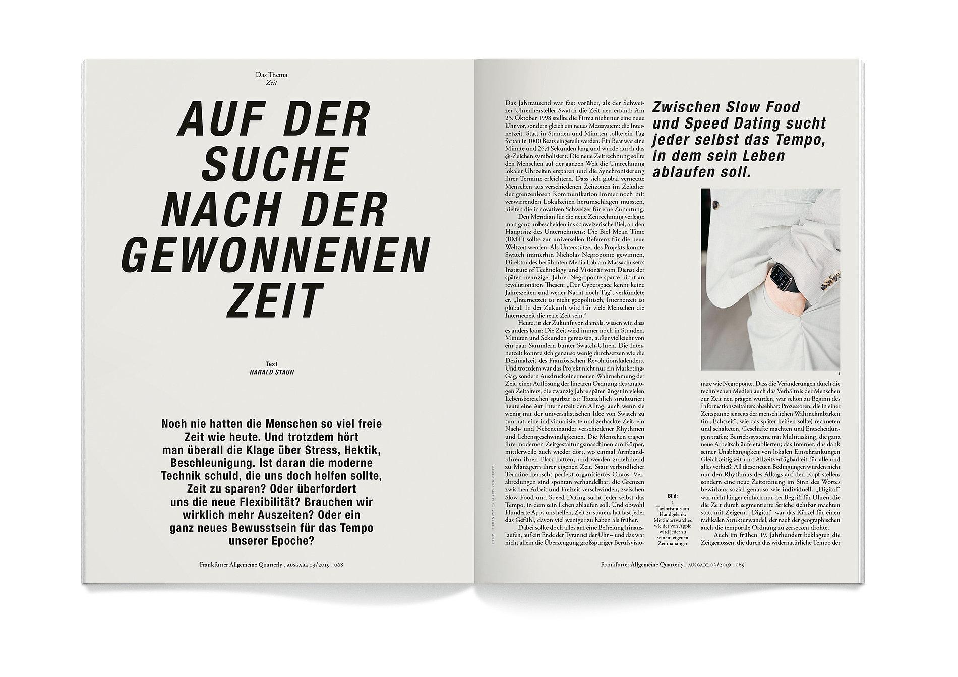 Frankfurter Allgemeine Quarterly | Red Dot Design Award