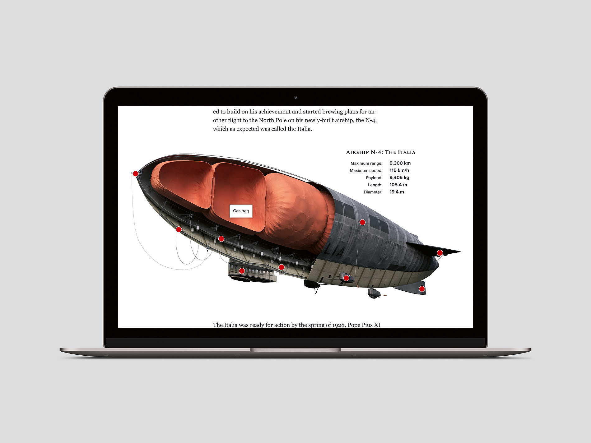 Italia – The Airship Crash Chronicle | Red Dot Design Award