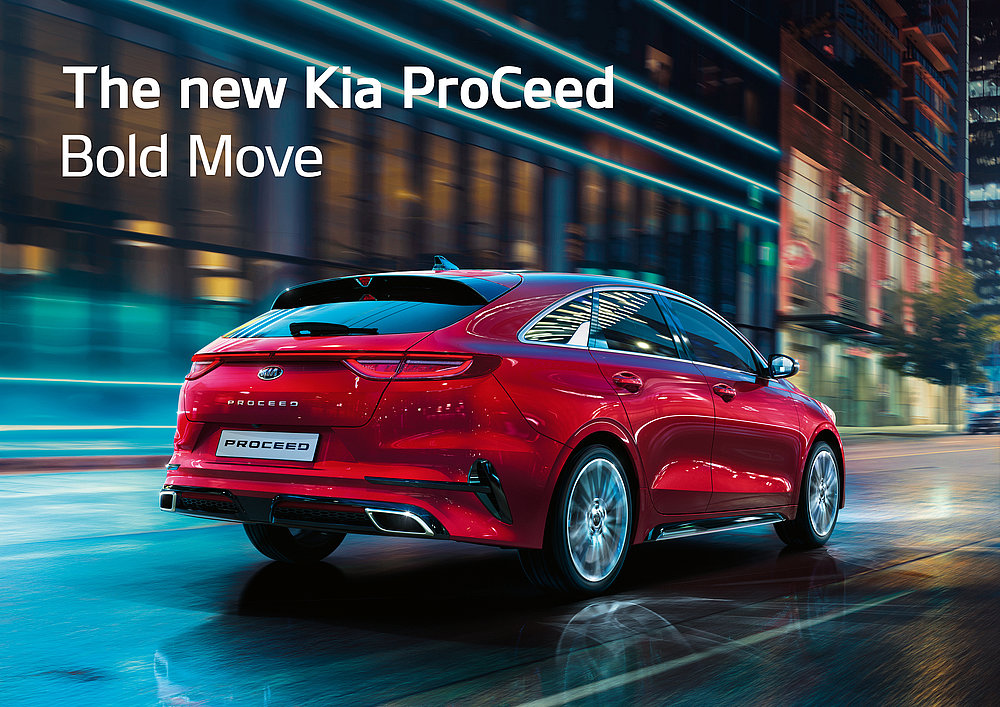 The new Kia ProCeed – Bold Move | Red Dot Design Award