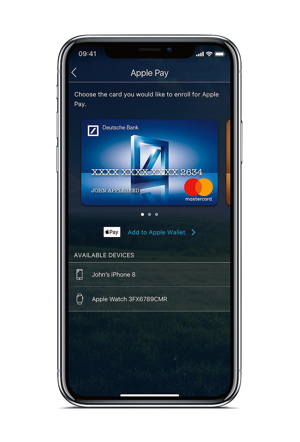 Apple Pay – Virtual Deutsche Bank MasterCard | Red Dot Design Award
