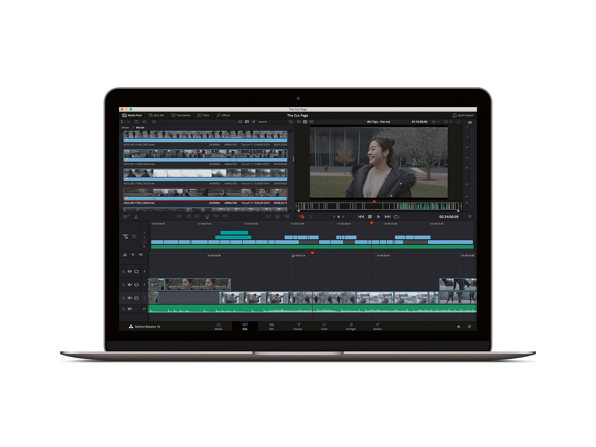 The Cut Page – DaVinci Resolve 16 | Red Dot Design Award