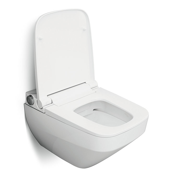 Inspire V2.0 Wall-hung FlashClean toilet with TouchReel e-bidet cover | Red Dot Design Award